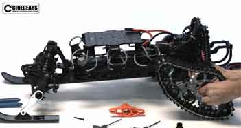 Hi-Speed Racing Gimbal Car Ski / Rover Installation